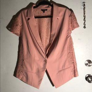 🎉Torrid NWOT Pink Lace Short Sleeve Jacket